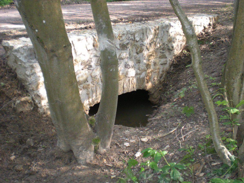 Le dalot de la Petite Rivière sous la Route Royale côté aval après sa restauration.