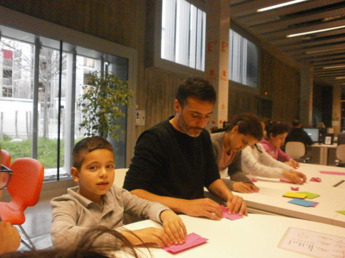 Atelier origami Médiathèque Grand M