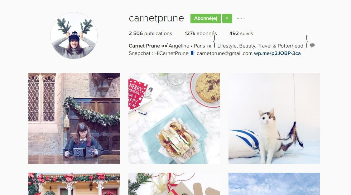 SELECTION 2016 / COMPTES INSTAGRAM