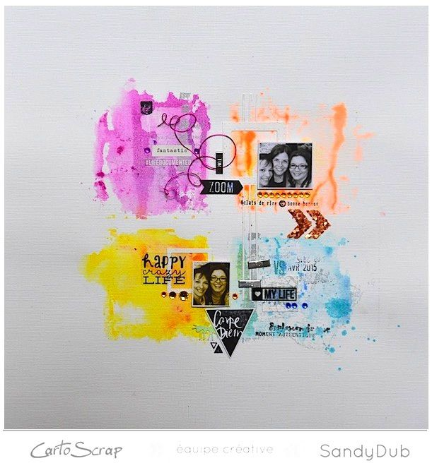 Le thème de Mai chez CartoScrap : c'est la couleur !