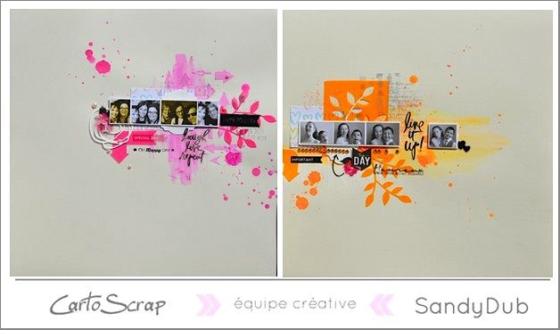 Deux pages colorées pour CartoScrap