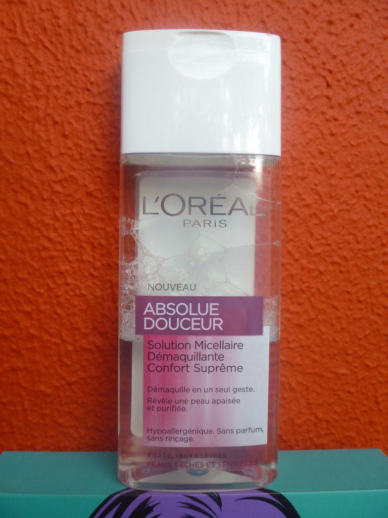 L'Absolue Douceur, Solution Micellaire Démaquillante Confort Suprême de L'Oréal