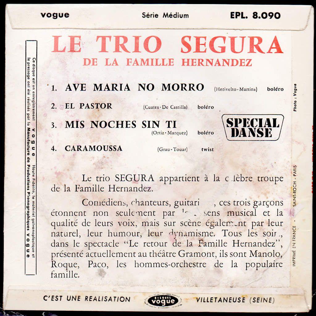 le Trio Segura de la famille Hernandez - ave maria no morro - 1963