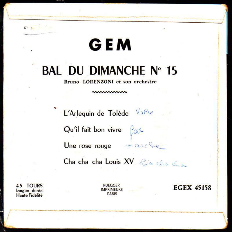 Bruno Lorenzoni et son orchestre - cha cha cha louis XV - 1961