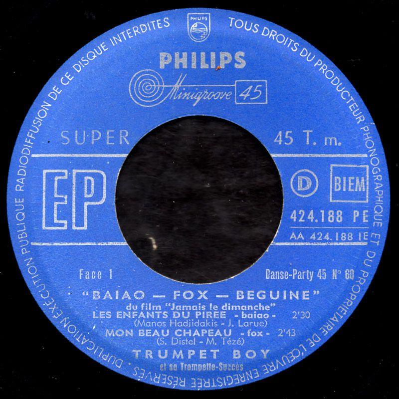 Trumpet boy - Les enfants du Pirée - 1959
