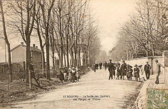 L'entrée de l'usine des forges de l'Adour.