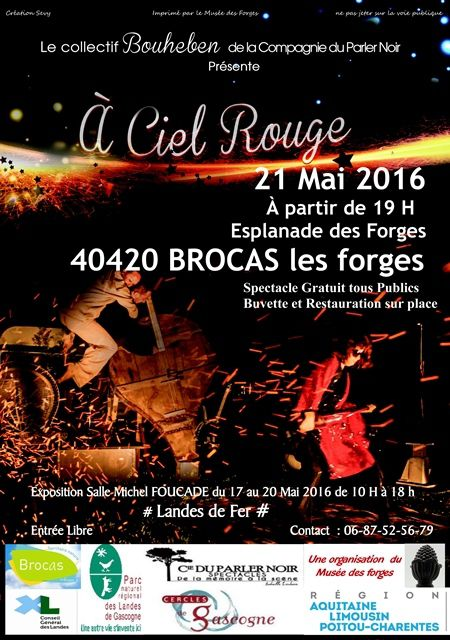 Soirée à BROCAS Les forges.