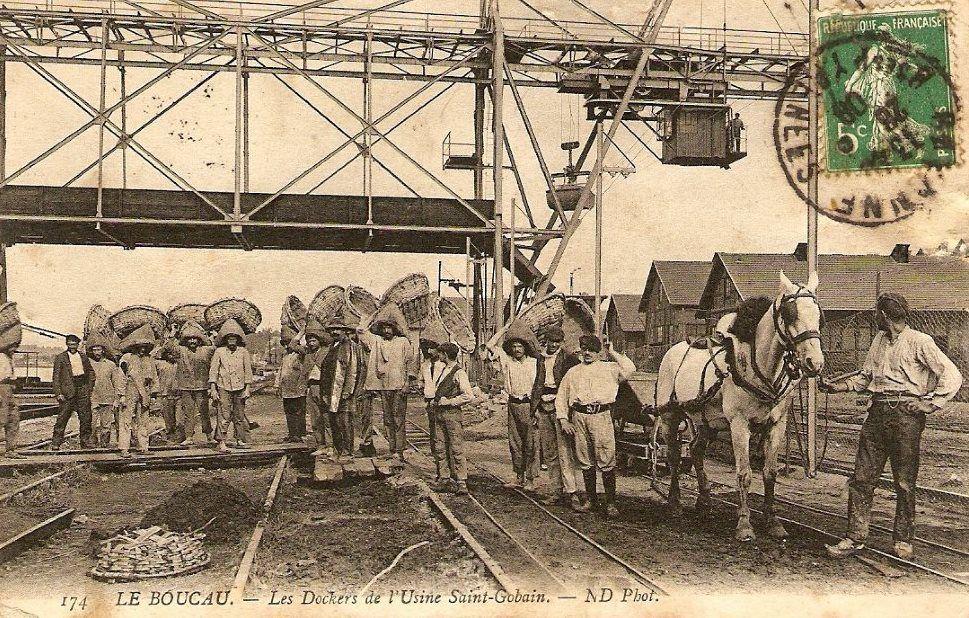 L'usine SAINT-GOBAIN.
