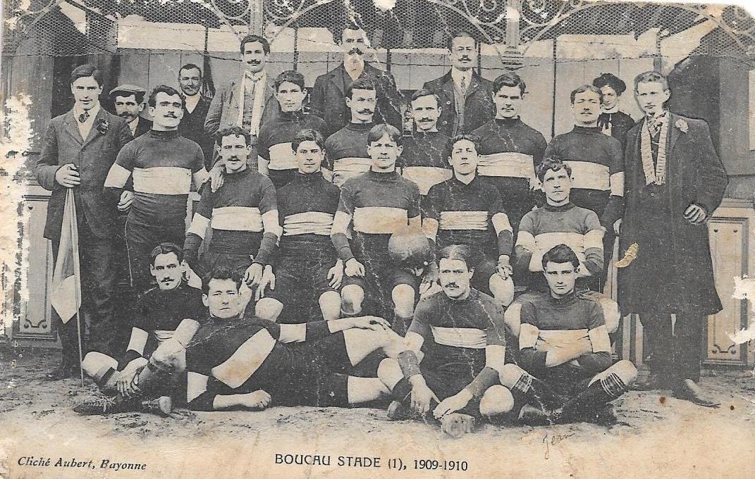 L'équipe du BOUCAU STADE 1909/1910