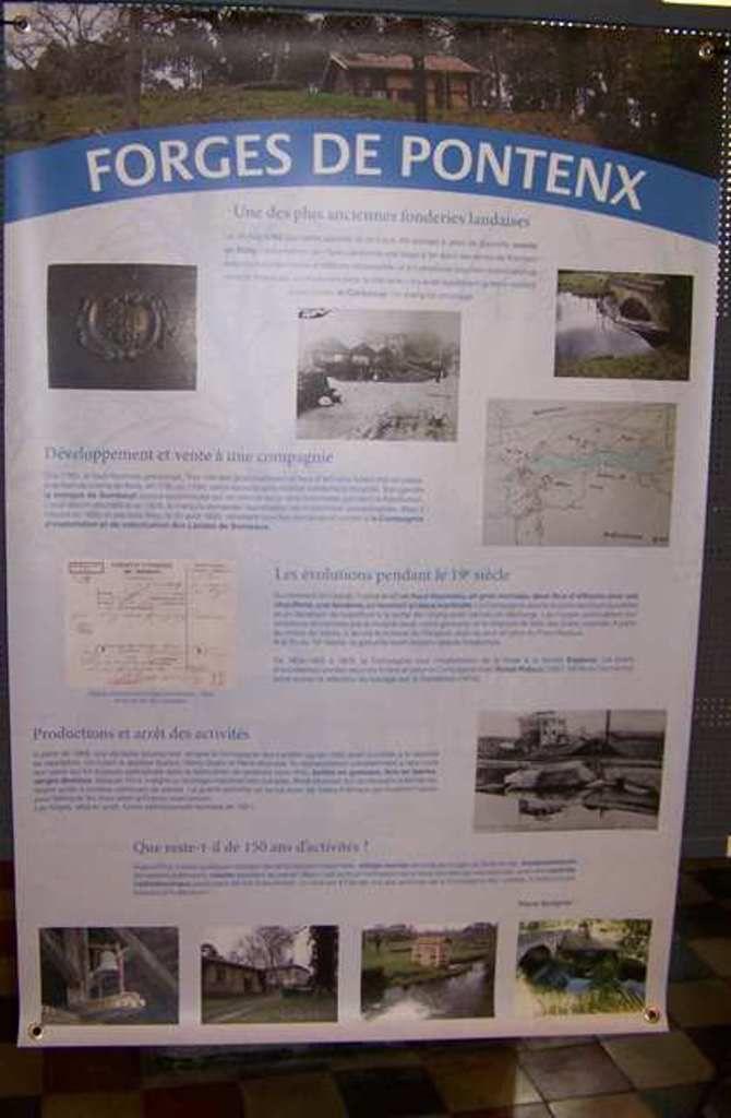 Les panneaux de l'exposition.