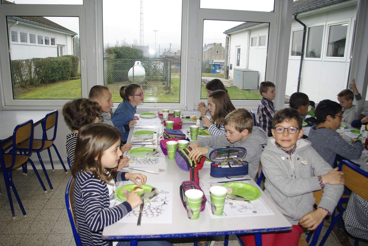 Petit déjeuner dans notre école