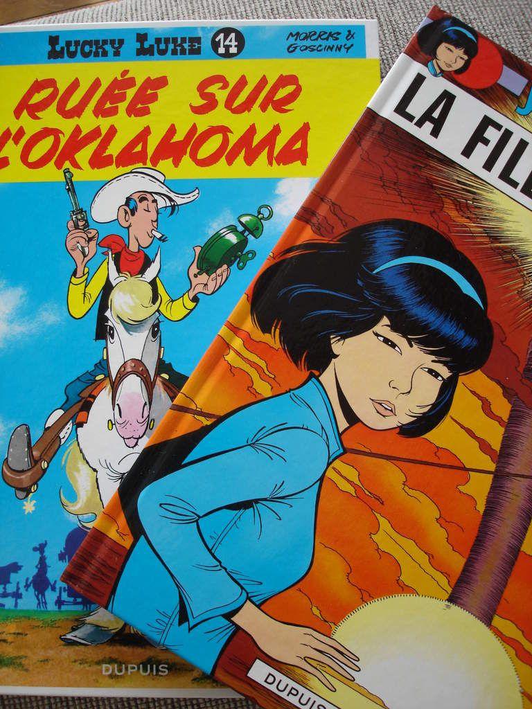 (写真上) タンタン Tintin / (写真下) Lucky Luke et Yoko Tsuno