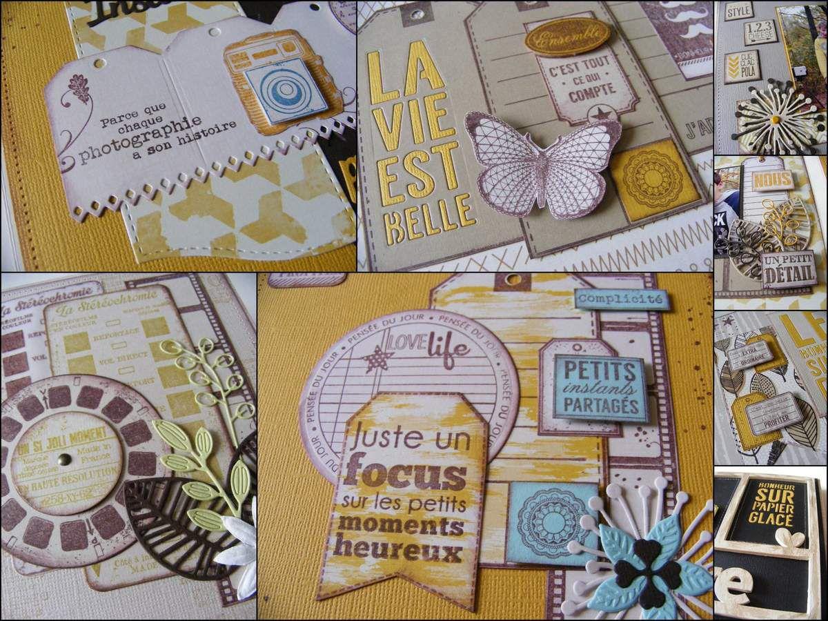Mini album &quot&#x3B;Bonheur sur papier glacé&quot&#x3B;