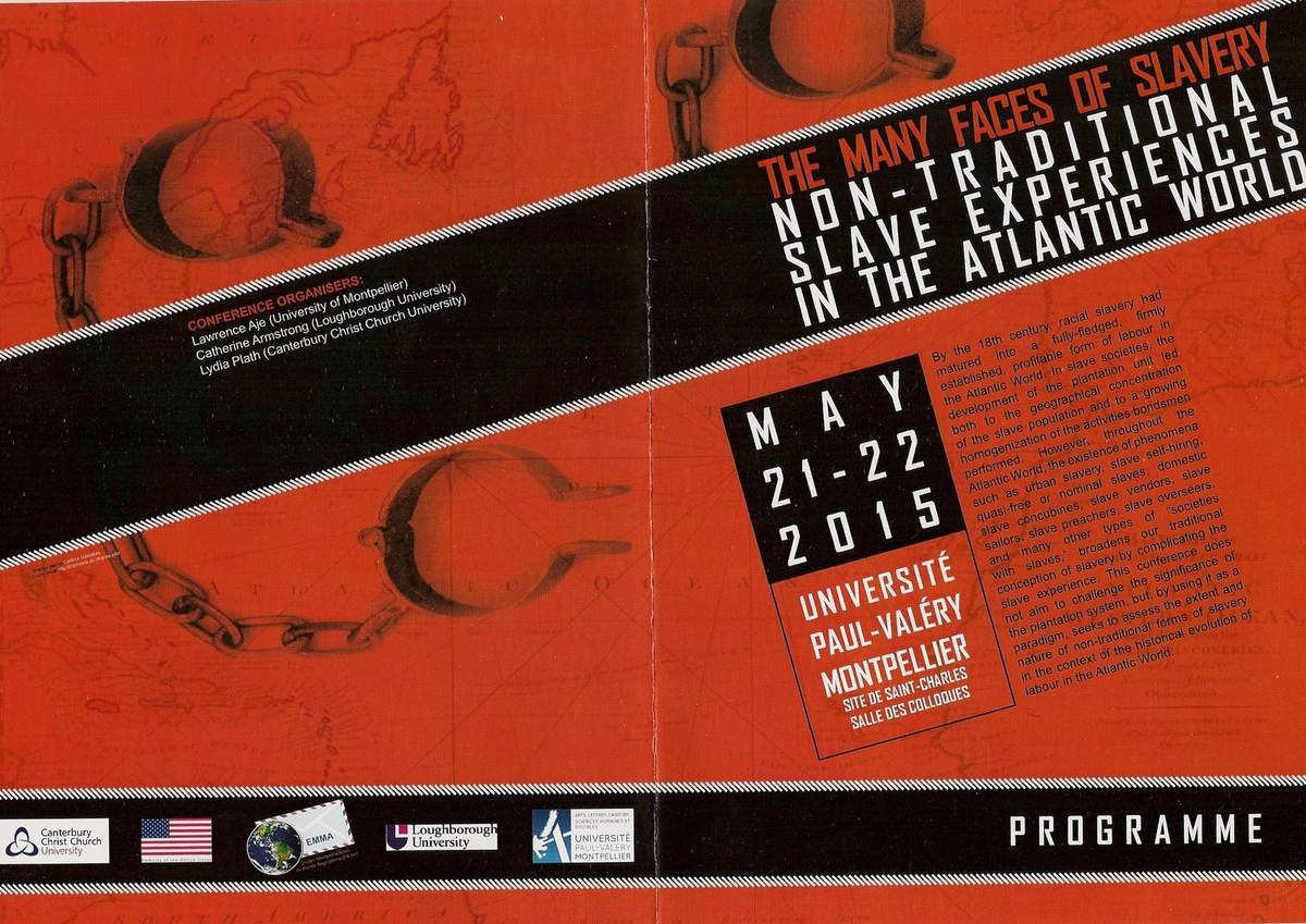 Colloque international à Montpellier : The Many Faces of Slavery