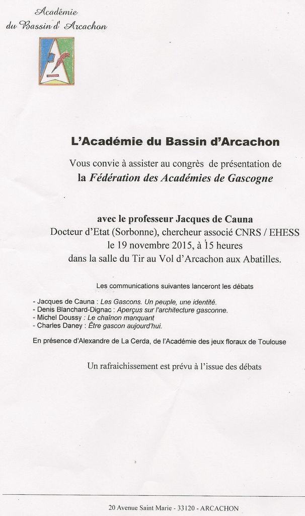 Fédération des Académies de Gascogne.