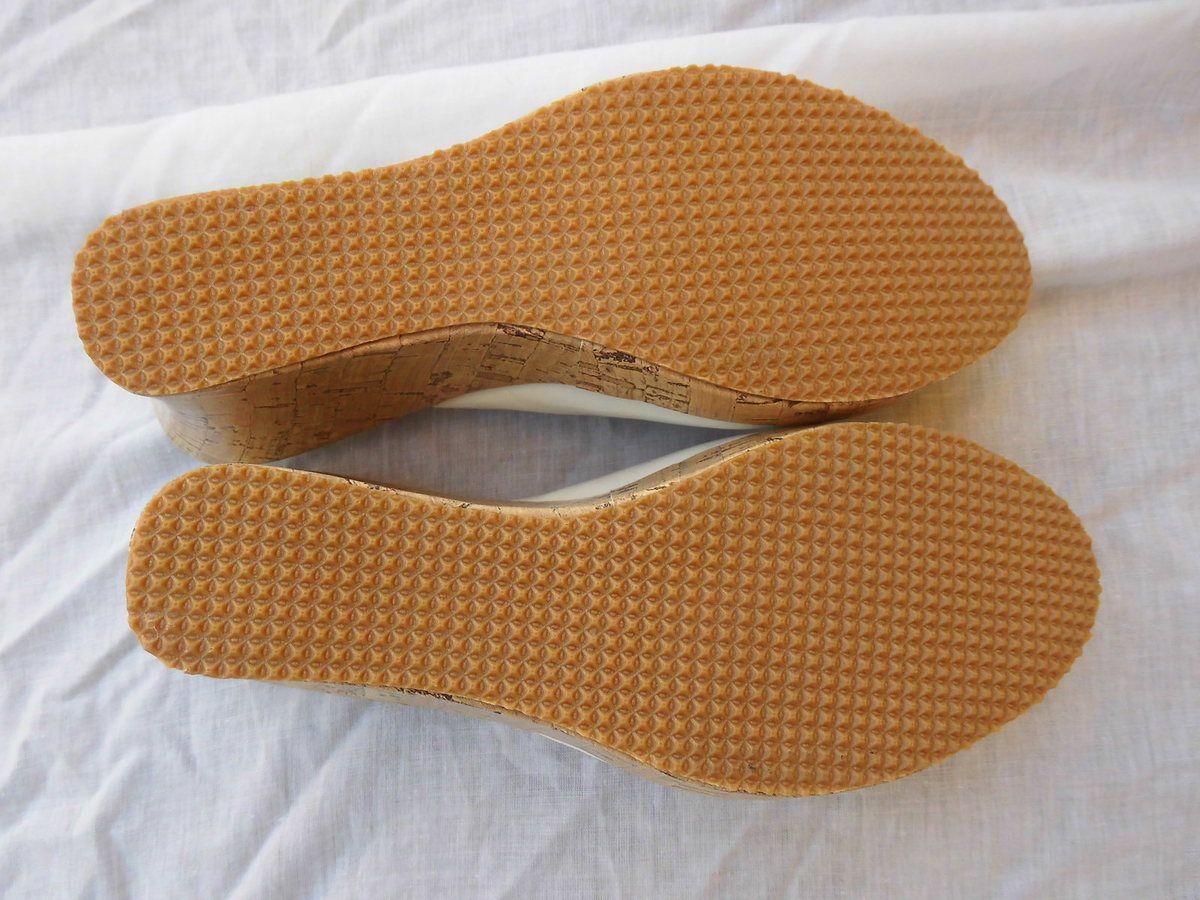 sandales neuves compensées pointure 38 blanc
