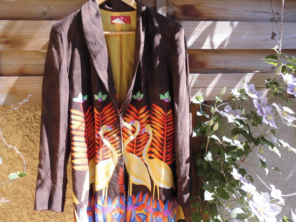 veste longue CHACOK , taille 3 , vintage , en parfait état
