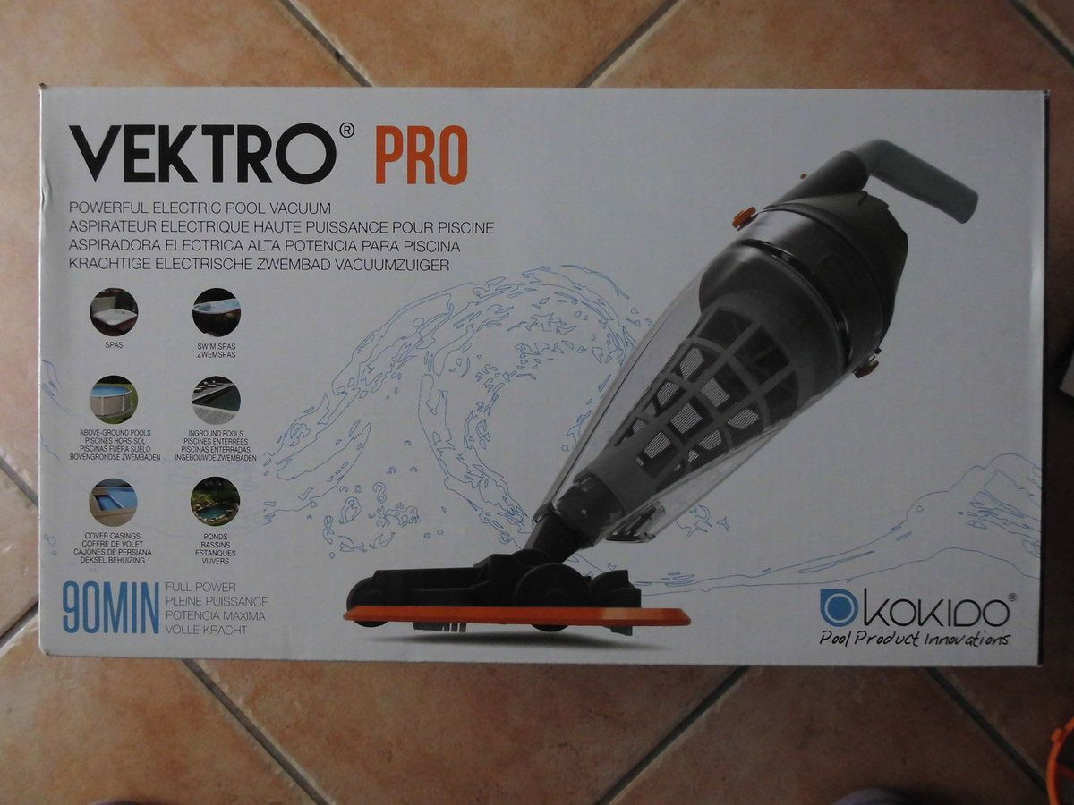 VEKTRO PRO aspirateur électrique haute puissance sans fil pour piscine et spa