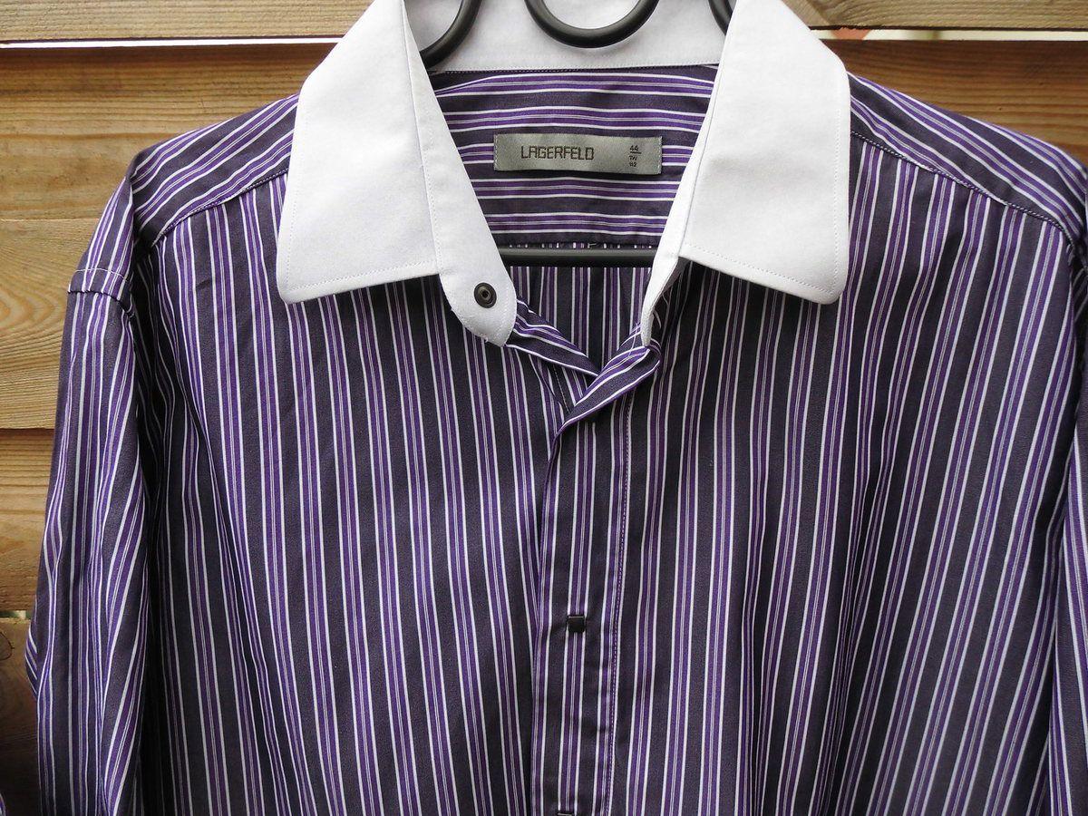 chemise LAGERFELD authentique boutons pressions carré