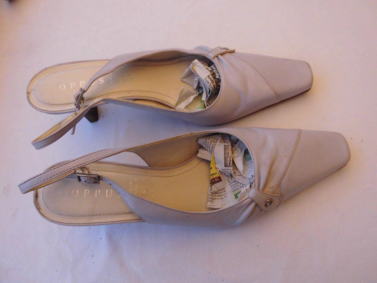 OPUS escarpins cuir ouverts couleur lilas parme 38