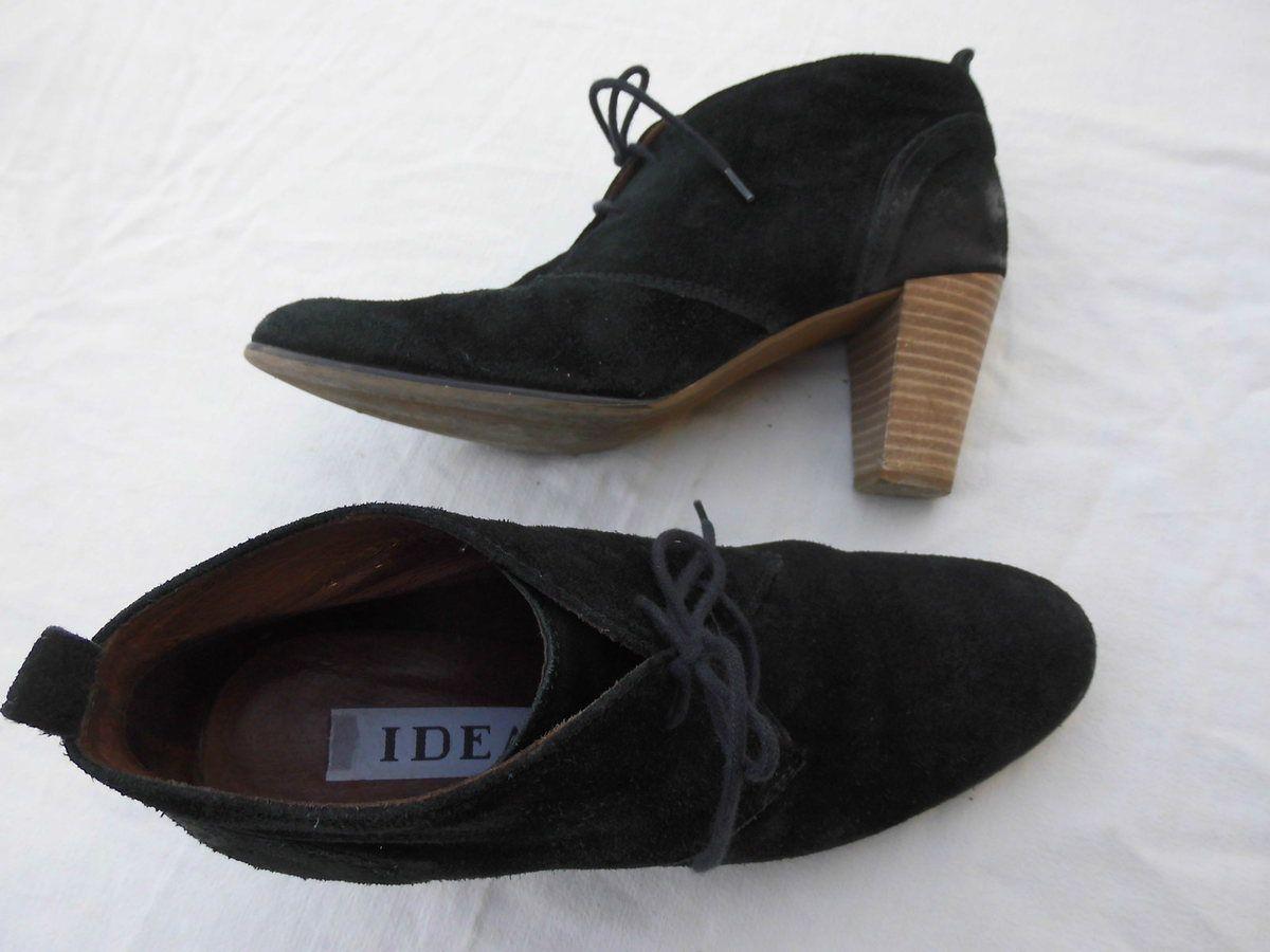 boots noir cuir 38