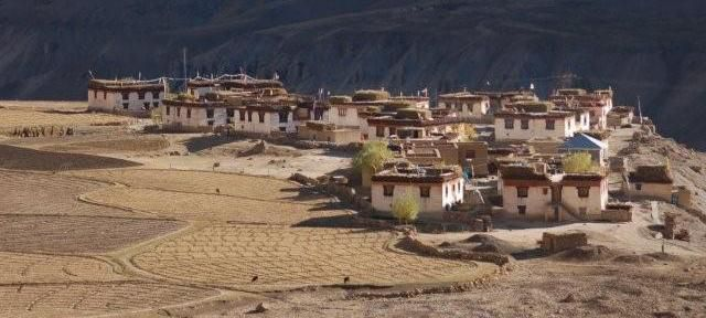A typical village in Spiti