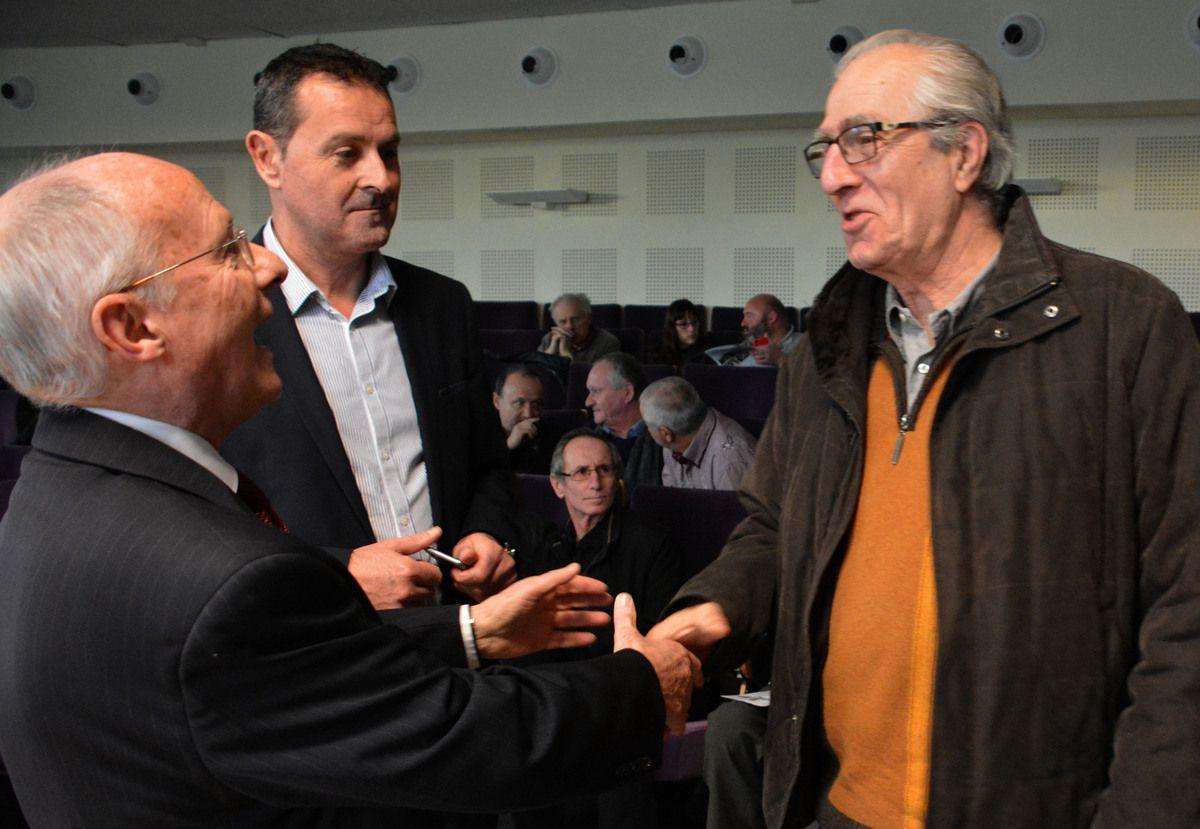 Jean-Claude Larco venu apporter ses encouragements à l'équipe de René Ricarrère