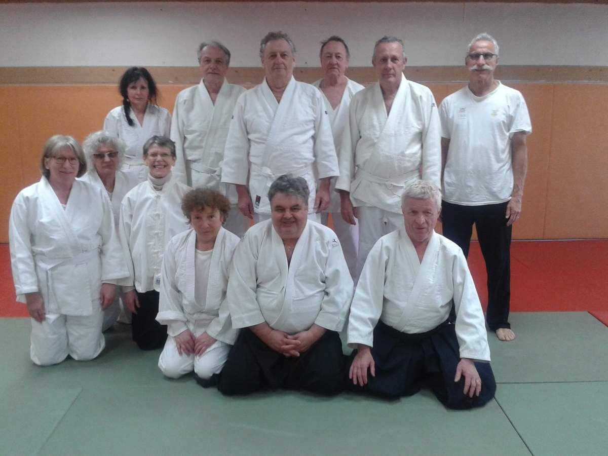 l'AÏKIDO, arrive à la Fédération française de retraite sportive, merci à tous les élèves, longue vie à cette section.