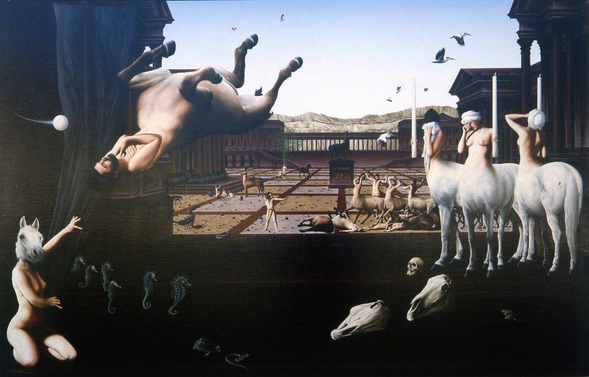 LA MORT DE CHIRON (huile sur toile  195 x 130 cm)