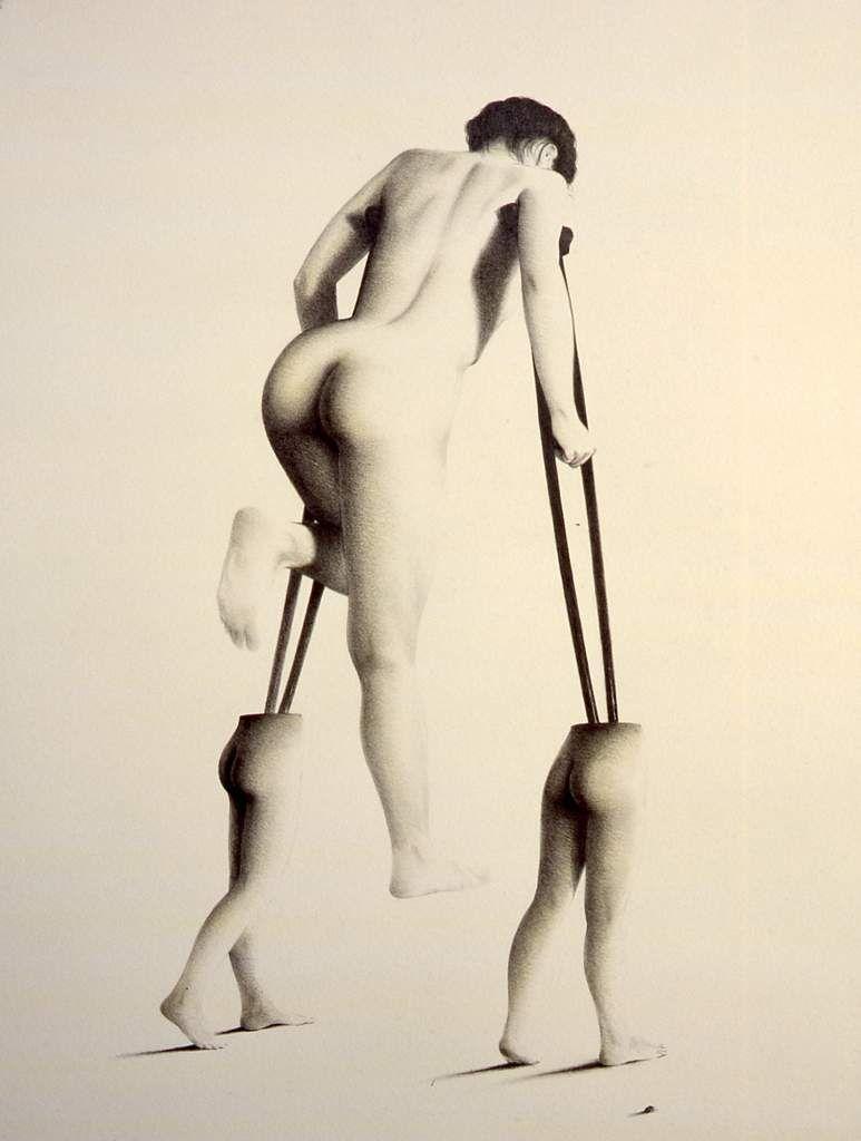 LES PETITS PAS ( crayon sur papier   65 x50 cm )