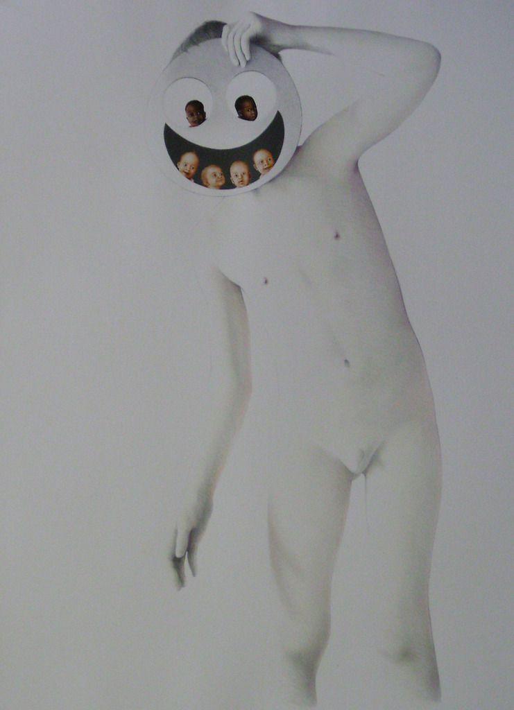 LE PETIT LUNAIRE  (  crayon et huile sur papier  76  x  56  cm  )