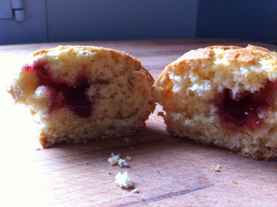 Muffins à la confiture de framboises