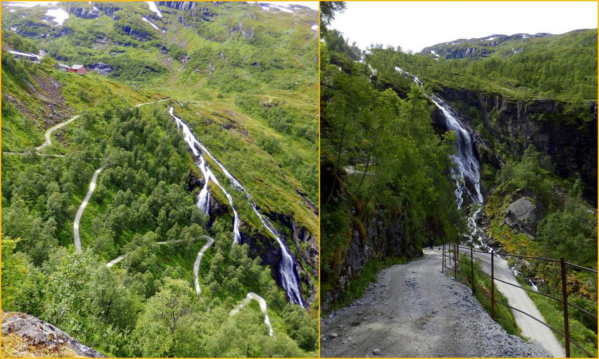De Flåm à l'Aurlandsfjellet