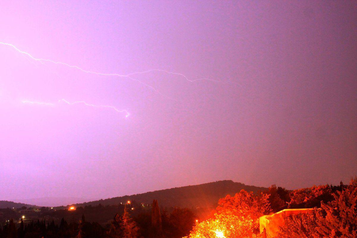 Quand les nuages ont apporté un gros orage sur Malras !!