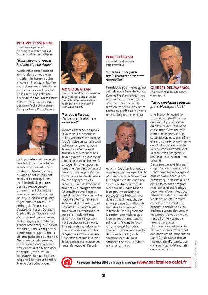 Conférence Caisse d'Epargne Ile de France et Culture Drone  « Demain, la Nouvelle Renaissance ? »