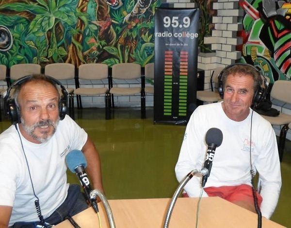 Pour la 120ème émission :Jean SAUCET (avec Pierre-Marie n'est hélas pas sur la photo ) étaient venus débriefer la première étape de la mini-transat