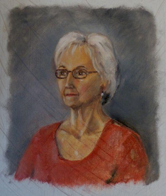 L'atelier portrait du vendredi 19 février... avec un bien joli modèle en la personne de Marie-Claude P.