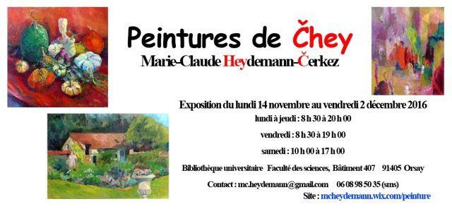 EXPOSITION DE MARIE-CLAUDE HEYDEMANN!
