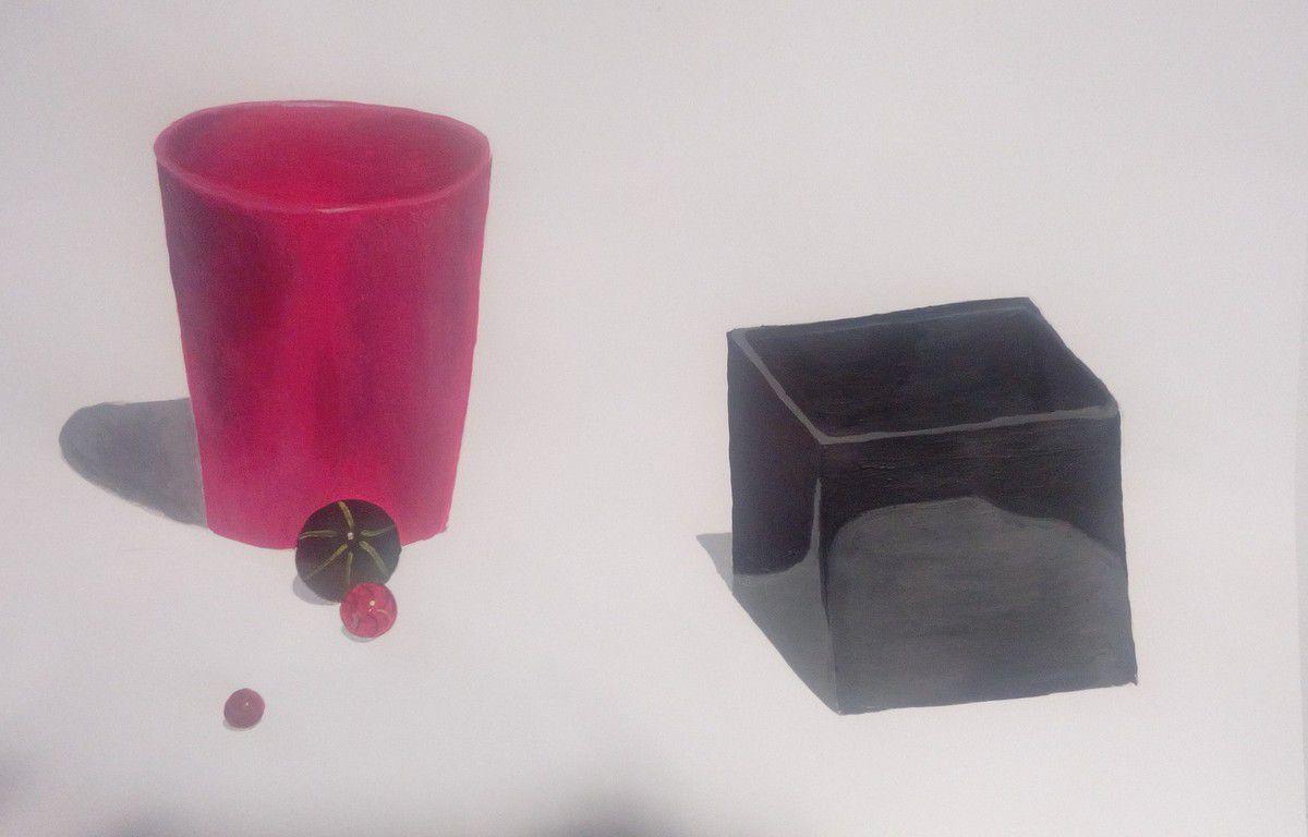 De nombreux nouveaux inscrits dans le groupe de peinture acrylique du vendredi soir, tous débutants en dessin et peinture acrylique. Voici leur premier exercice de découverte des volumes, perspectives, ombres et lumières, à la peinture acrylique! Groupe très motivé, impliqué, qui promet de bien belles choses à venir!!