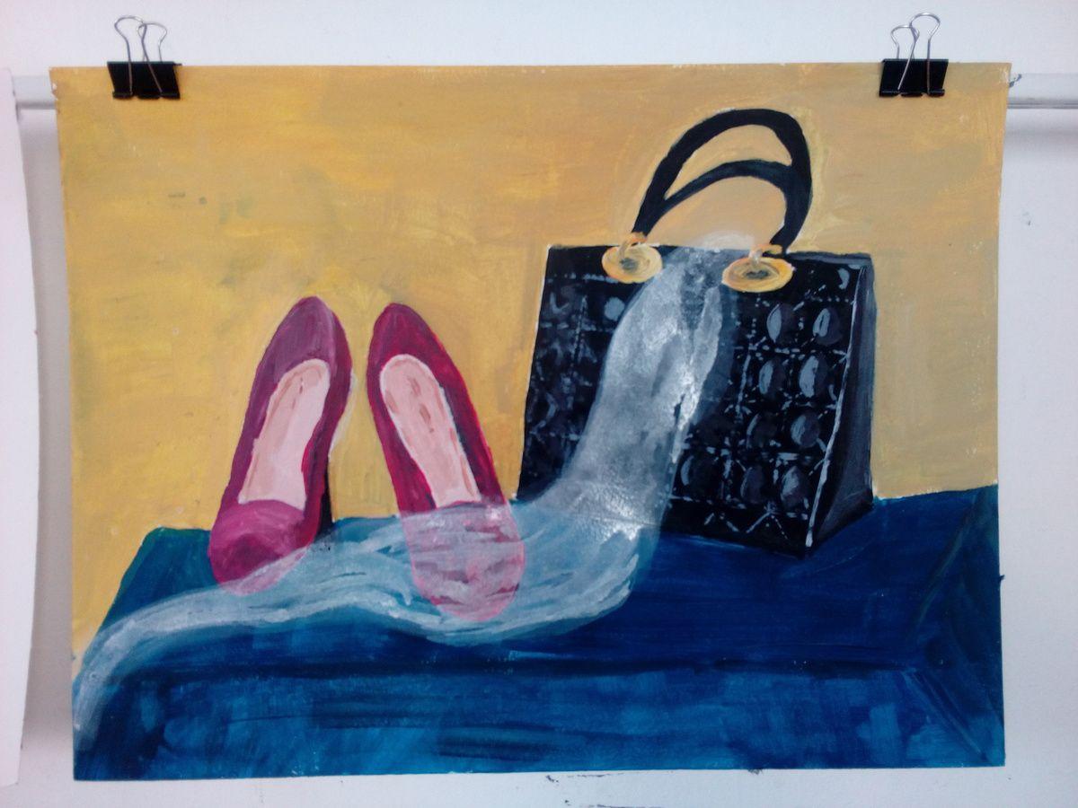 Cours de peinture acrylique du jeudi : une nature morte de mode!