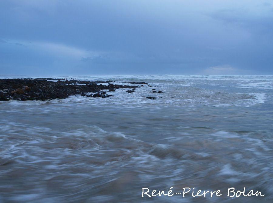 Mini-tsunami. Baie d'Audierne.