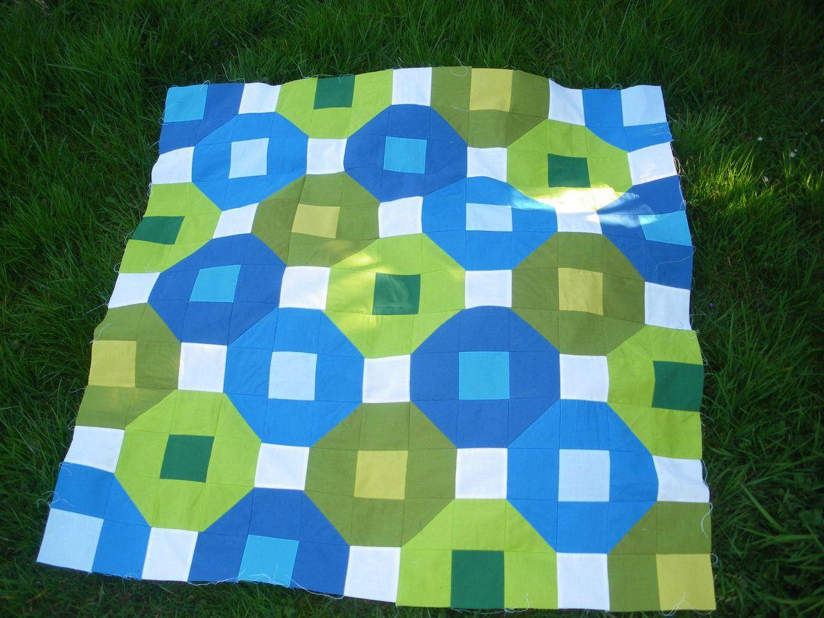 Couverture bleu vert