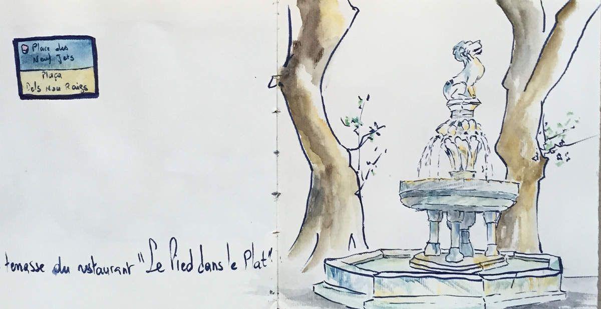 Fontaine de la Place des Neufs Jets - Céret