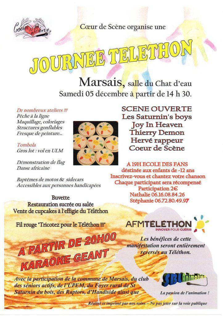 Programme du téléthon 2015 à Marsais