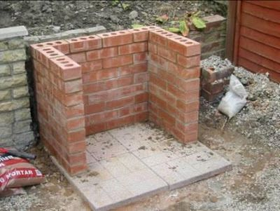 Comment construire un barbecue en brique-  photos