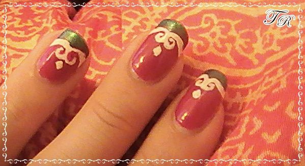 Red Oriental Inspired Nails
