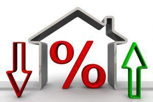 Изменение процента по ипотеке. Концепция.