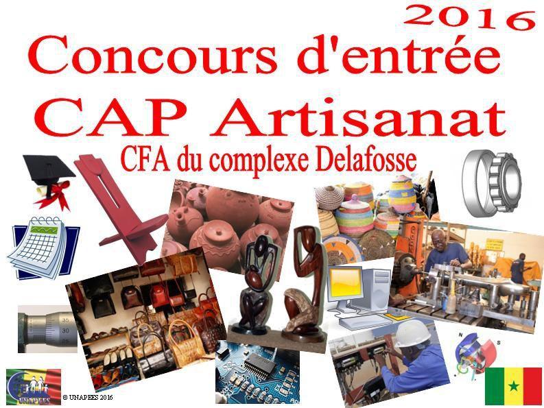 Concours d'entrée CAP Artisanat