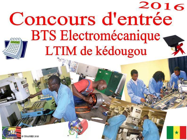 Concours d'entrée BTS Electromécanique du LTIM