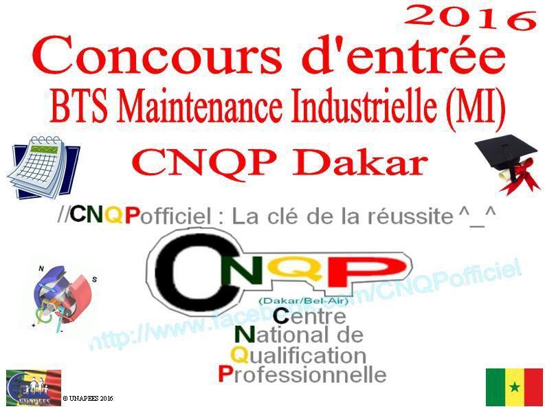 Concours d'entrée BTS en Maintenance Industrielle